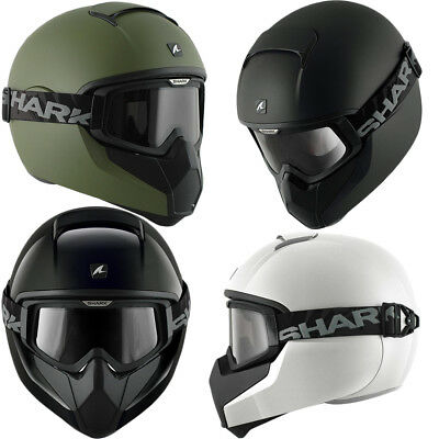 Shark Vancore Street Fighter Full Face Scooter Motorcycle Helmet + Tinted Goggle