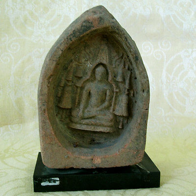 Antique 12Th Century Terracotta Buddhist Plaque Pagan Bagan Burma