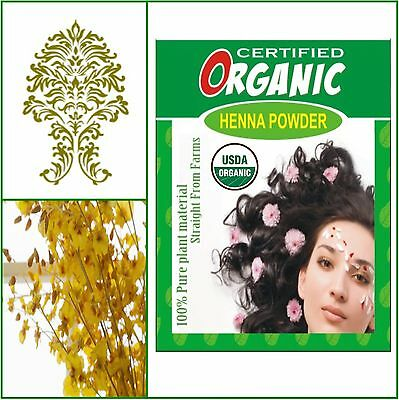 100% Natural. USDA Certified Organic Henna. Golden Brown Hair Color. 100g.