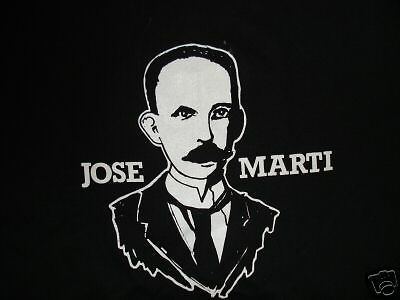 NEW! Jose Marti Cuban Poet Cotton T-Shirt Comfortable!!