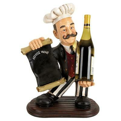 A nation 49704 20 in. H x 13 in. W Polyston Chef Wine Holder