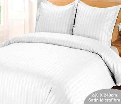 Housse de Couette Blanche   Rayure Satin STRIPES 220 x 240 +2 taies  top qualité