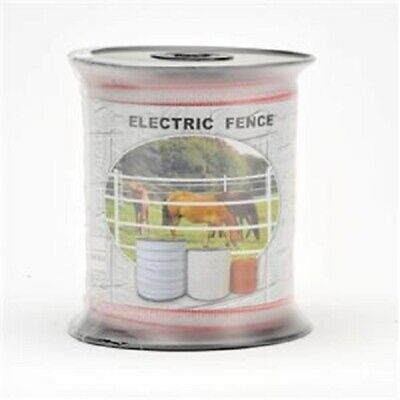 Polytape 200m Roll 12mm Electric Fence +2 BONUS WARNING SIGNS Hot Tape Energiser