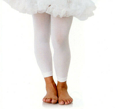 39488f34f53aa Leg Avenue 4779 Enchanted Child Footless Tights Summer Weight Girls M XL  White