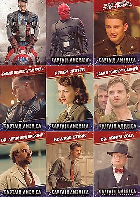 Captain America The First Avenger Movie 2011 U D Base Card Set Of 99 Marvel