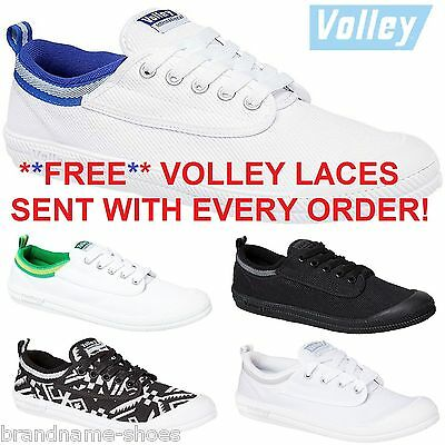 DUNLOP VOLLEYS International Canvas Casual Mens Lace Shoes + FREE VOLLEY LACES !