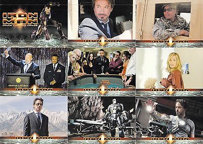 Iron Man Movie 2008 Rittenhouse Complete Base Card Set Of 70 Marvel Comics