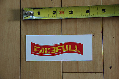 NEW Facefull Magazine Yellow on Red Sticker Decal for paintball airsoft
