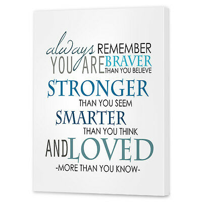 Inspirational Quote Wall Art   Framed Ready to Hang Canvas Print