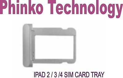 New ipad 2/3G/4G Sim Card Tray Holder Replacement Silver