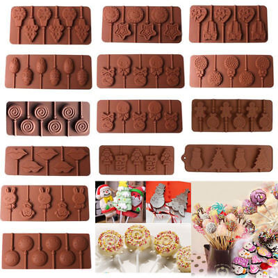 HOT Lips Lollipop Cake Mold Flexible Silicone Mould For Candy Chocolate+Sticks