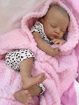 "Reborn Baby Doll Real Girl Chloe Realistic 22"" Newborn Lifelike Uk 5Lbs Hair"