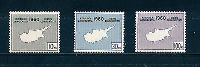 Cyprus 1960 Constitution Of Republic Sg203/5  Mnh