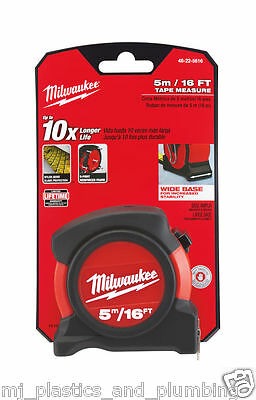 Milwaukee 48-22-5616 5M/16Ft Metric & Imperial Contract Tape Measure