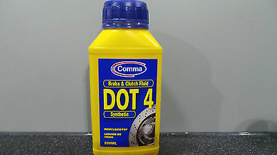 COMMA UNIVERSAL BRAKE AND CLUTCH FLUID DOT 4 SYNTHETIC 250ml  MOTORAMA HULL