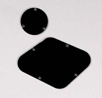 NEW Backplate & Switch Cover For Gibson Les Paul, 1-Ply BLACK