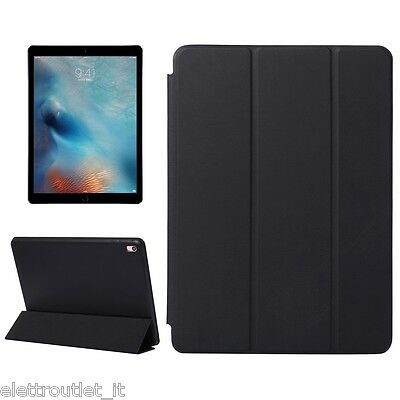 CUSTODIA Integrale per Apple iPad AIR 2 9.7 Nera SMART COVER SUPPORTO +Pellicola