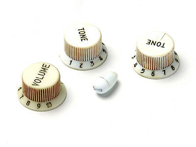 Aged 54 SC Bakelite Knob Set Short Skirt Tall Boy Polysteryne fits to Strat®
