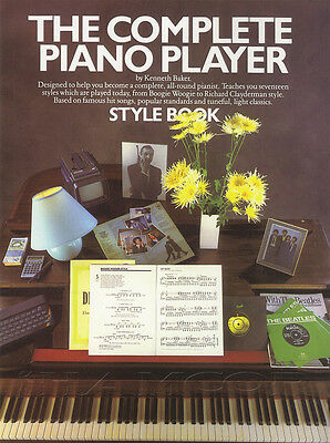 The Complete Piano Player Style Sheet Music Book by Kenneth Baker