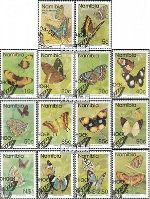 Namibia 751-763,771 fine used / cancelled 1993 Butterflies