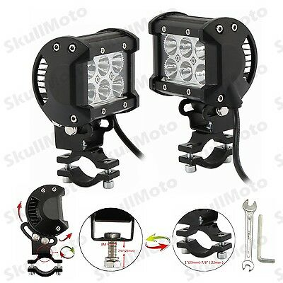 Adjustable Motorcycle18W CREE LED Driving Fog Spot Spotlight Lamp Light For BMW