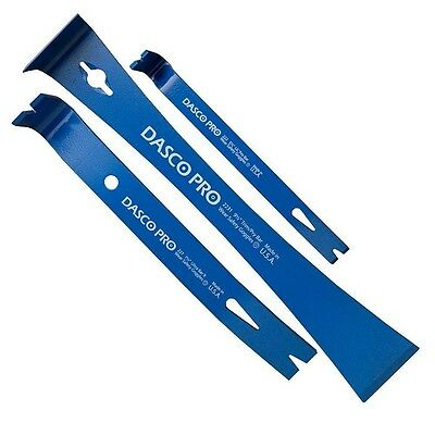 Dasco 3pc Pry Bar and Nail Puller Set with Paint Scraper 91