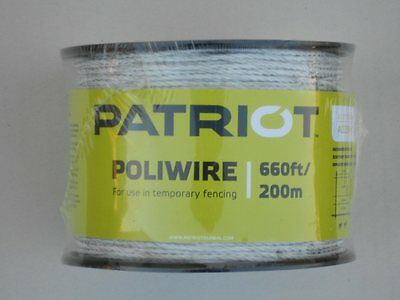 Electric fence polywire (Patriot PoliWire) for cattle, horse, sheep, goats, etc