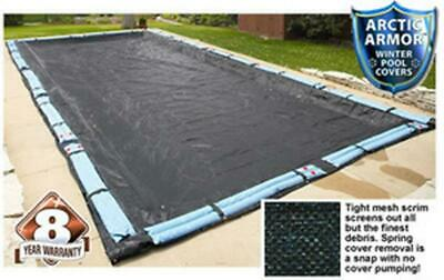 Arctic Armor Rugged Mesh Winter Inground Cover for 18x36 Rectangle Pool