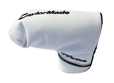 NEW TaylorMade Universal White/Black/Red Blade/Boot Putter Headcover