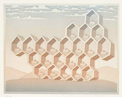 Jean-Michel Folon - Cities (Image 2), hand-signed etching and aquatint