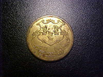 Connecticut Turnpike Good For One Fare Token!  - Dd79Xx