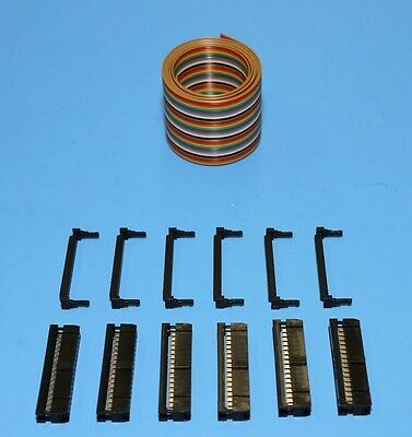 IDC Color Cable Ribbon Cable 3 Ft 30-Pin (2x15) Connector Kit, From USA