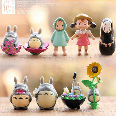9x My Neighbor Totoro Movie Character Garden Ornament Miniature Figures Doll Toy