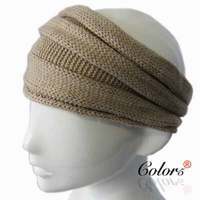 Color5 Ladies Women Girls Winter Corchet Knit Knitted Headband Head Cover Bow
