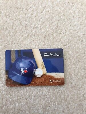 Just Released Toronto Blue Jay Tim Horton  Gift Card FD56593 No Value