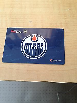 TIM HORTONS Just Released Edmonton Oilers 2015/2016 Fd49239 Card With No Value