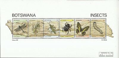 Botswana block15 mint never hinged mnh 1981 Insects
