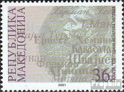 Macedonia 242 mint never hinged mnh 2001 100 years nobel prizes