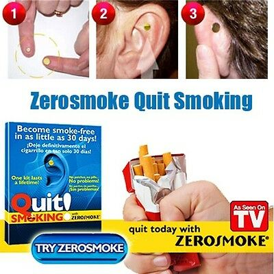 Quit Stop Smoking No Nicotine Patches Gum Pills Drugs Auricular Therapy Magnet