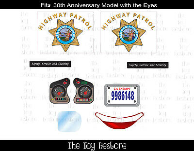 Police Car Replacement Decal Stickers fits Little Tikes 30th Ann Cozy Coupe CHP