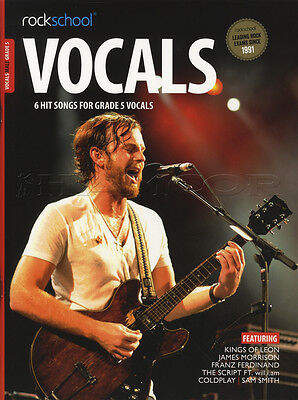 Rockschool Vocals Male Grade 5 Sheet Music Book with Audio Exams Tests