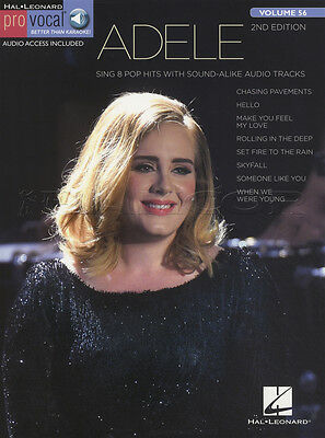 Adele Pro Vocal Volume 56 Sheet Music Book with Audio 2nd Edition Hello Skyfall