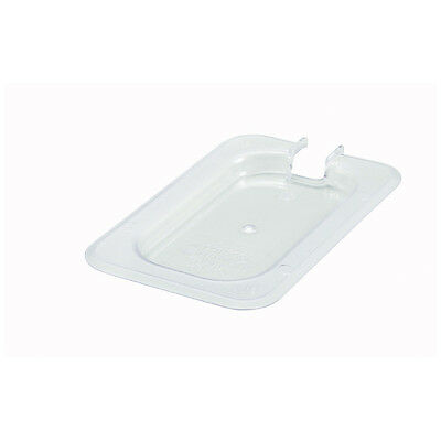 Winco SP7900C, Polycarbonate Slotted Cover for One-Ninth Size Food Pan, NSF