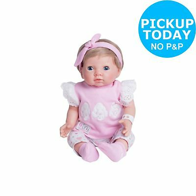 Chad Valley Tiny Treasures Baby Doll with Pink Outfit & Hat.