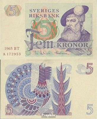 Sweden Pick-number: 51a (1965) uncirculated 1965 5 Kronor