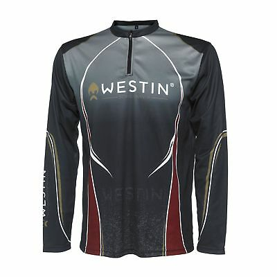 Westin Tournament Shirt LS Pirate Black M-XXL Trikot Jersey Angeln 100%Polyester