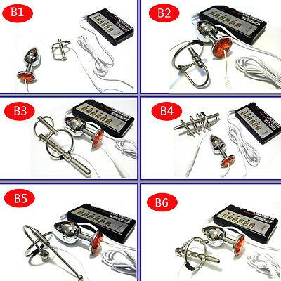 Urethral  Electro Shock Sounding Stretcher  Stainless Steel DIY A244 B