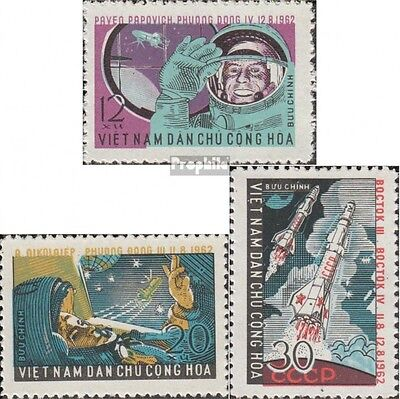 Vietnam 240-242 fine used / cancelled 1962 Vostok III and IV