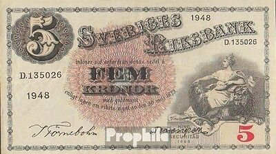 Sweden Pick-number: 33ae (1948) used (III) 1948 5 Kronor
