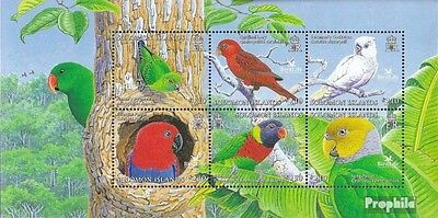 Salomoninseln block90 mint never hinged mnh 2005 Locals Birds